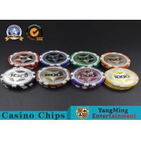 ABS Casino Poker Chips , Gambling Plastic Sticker Poker Chips Coins Yangming Manufactures