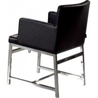 Upholstered Black Leather Dining Chairs, Contemporary Dining Room Chair Manufactures
