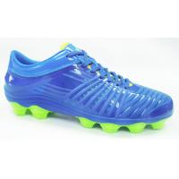 TPU Outsole TPU Upper Mens Football Boots , Blue Outdoor Soccer Cleats Manufactures