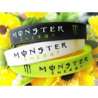 Monster silicone bracelet wristband 4 color fashion bracelet Sports Silicone Bracelets Manufactures