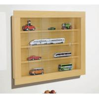 Wooden Wall Mounted Display Cabinet , wall mount art display cases Manufactures