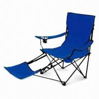 China PVC Polyester Folding/Camping Chair With Durable Steel Frame and Footrest (FC123) on sale