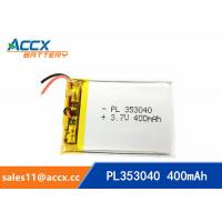 353040pl rechargeable 353040 3.7v 400mah lithium polymer battery for MP3 player, MP4 player Manufactures