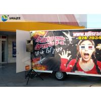Luxury Motion Chair Truck Mobile 5D Cinema With Snow / Bubble / Windy Simulation Manufactures