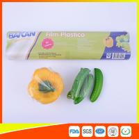 Stretch PE Cling Film Plastic Food Wrap For Keeping Fresh With FDA Approval Manufactures