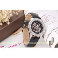 Winner Leather Strap 245mm Womens Wrist watches With Black Glass Manufactures