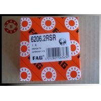 Single Row Deep Groove Ball Bearings ABEC3 6206 Bearing With Two Rubber Seals Manufactures