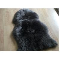 Genuine Four Pelt Sheepskin Rugs , White Cream Natural Home Sheepskin Rug  Manufactures