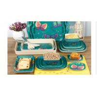 China Colorful Bamboo Dinner Set , Reusable Bamboo Dinnerware For Indoor / Outdoor on sale