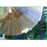 275GSM Cardboard Paper Roll , Aluminum foil Gold / Silver paper Card for Super gift package Manufactures