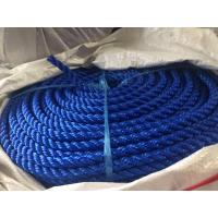 3 Strands Twisted Polypropylene Twine UV Treated High Breaking Strength Blue PE Rope Manufactures