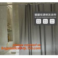 New popular transparent printed peva shower curtain, Polyester Shower Curtain Fabric For Bath Curtain, waterproof bath w Manufactures