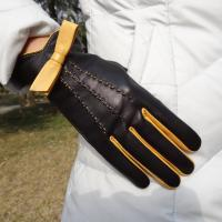 Sheepskin Suede Custom Fit Leather Gloves , Soft Warm Lined Leather Gloves Manufactures