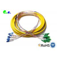LSZH/PVC Jacket Fiber Optic Patch Cables 12F Multi Fiber Pre Terminated LC APC - LC UPC Manufactures