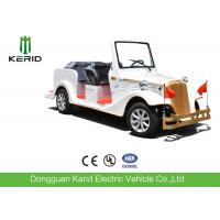 Battery Operated 48V Electric Classic Shuttle Bus 6 Passenger With Rear Axle Manufactures