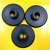 Black Nylon 66 Plastic Machined Parts CNC Turning Simple Design Lightweight Manufactures