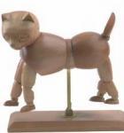 Vivid Craft Artist Wooden Manikin Dog / Cat Mannequin Good Design Manufactures
