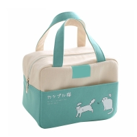 China Portable Women Kids Insulated Canvas Cartoon Cooler Lunch Box Canvas on sale
