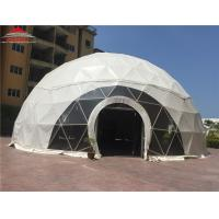 China Transparent Entrance Steel Geodesic Commercial Dome Tents For Celebration on sale