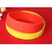 Quality Minimalistic Pattern Custom Silicone Rubber Wristbands Without Deformation for sale