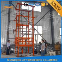 1T 12m CE Approved Vertical Guide Rail Elevators Hydraulic Warehouse Cargo Lift Manufactures