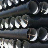 DN125 / ISO2531 K8 DN800 Black Ductile Iron Pipes with Water Pressure Test Manufactures