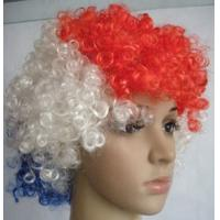 China 2012 hot selling high quality soccer fans wig for football club logo printing on sale
