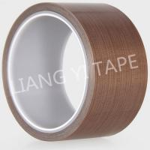 Brown Silicone PTFE Adhesive Tape , High Temperature Resist Teflon Adhesive Tape Manufactures