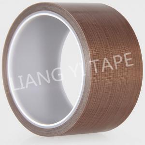Brown Silicone PTFE Adhesive Tape , High Temperature Resist Teflon Adhesive Tape