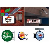 Aluminum Frame Solar Powered Signs Long Life Span Vacuum Form LED Light Box Manufactures