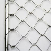 China 304 Stainless Steel Balustrade Cable Mesh Strong Toughness Environmental Protection on sale