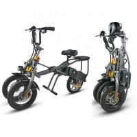 3 Wheel Folding Long Range Electric Trike CE Certificate DC Brushless Controller for sale
