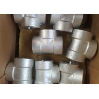 4 Inch Threaded Forged Stainless Steel Pipe Fittings / Stainless Steel Tees / Equal Tee Manufactures