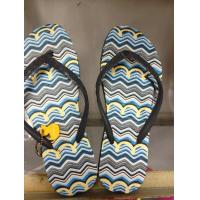 China Ladies Nude EVA Foam Navy Blue / Black / Red Cool Flip Flops For Beach Walk on sale