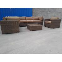 Sectional All Weather Rattan Furniture Wicker Patio Sofa Set Comfortable Cushion Manufactures