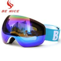Colorful Mens Snowboarding Goggles Reflective Lens White Frame For Snow Sport Manufactures