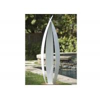 China Garden Art Decoration Modern Stainless Steel Sculpture White Painted Finish on sale