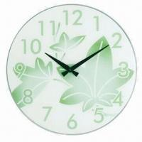 17 inches Glass Wall Clock with 4C Dial Silkscreen Imprint, Measures 43 x 3.8 x 43cm Manufactures