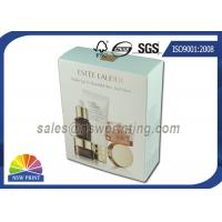 Foldable Paper Cosmetic Packaging Box with Gold Foil Embossing Logo Manufactures