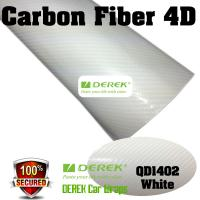 4D Glossy & Shiney Carbon Fiber Vinyl Wrapping Films--White