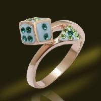 Promotional Casino Jewelry Dice Finger Ring Manufactures