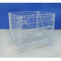 China High Strength Industrial Wire Container 72KG Wire Mesh Pallet Cages on sale