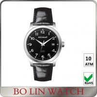 Quality Polished Simple & Elegant Genuine Leather Watches With Imported Movement for sale