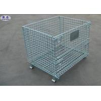 Metal Steel Wire Pallet Cages Turnover / Storage / Recycling For Goods Manufactures
