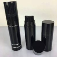 15ml 30ml 50ml a series black  cosemtic airless bottle for men's skincare Manufactures