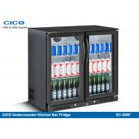 China High Capacity Beer Cooler Refrigerator , Kitchen Under Counter Fridge Fan Cooling on sale