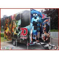 China High Resolation 5D Mobile Movie Theater Truck , Movie Theater Equipment on sale