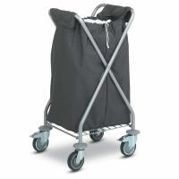Folding Laundry Hotel Luggage Dolly / OEM Chrome Hotel Luggage Carrier Manufactures