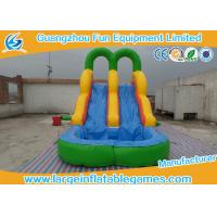 China Safety Logo Printing Toddler Inflatable Pool Slide With Climbing Stairs on sale