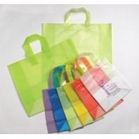 hdpe ldpe PP Clip Handle Reusable Grocery Shopping Bags / Plain or 1 - 8 Color Printed Manufactures
